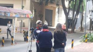 Ivan Sierra speaking with students